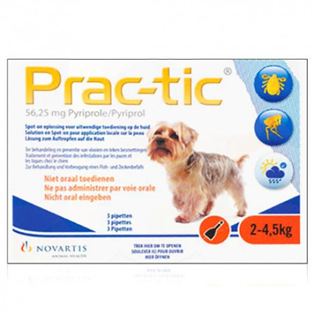 Prac-tic - pipettes anti-puce et anti-tiques pour chiens