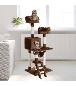 Arbre à chat multiniveaux de luxe 148 cm