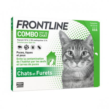 Frontline Combo Chat - Pipettes antipuces et antitiques