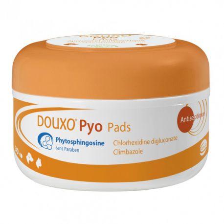 Douxo Pyo Pads - Disques de coton imprégnés pour chien et chat