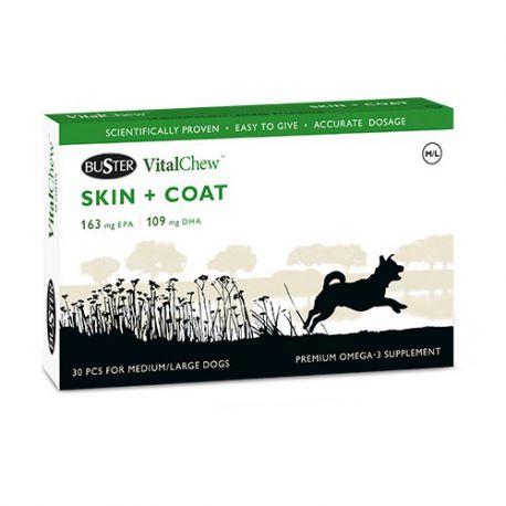 VitalChew SKIN + COAT - Soutien de la fonction dermique pour chien