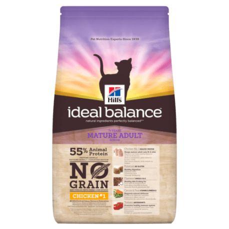Hill's Ideal Balance Feline Mature Adult No Grain Poulet/Pomme de terre - Croquettes pour chat âgé