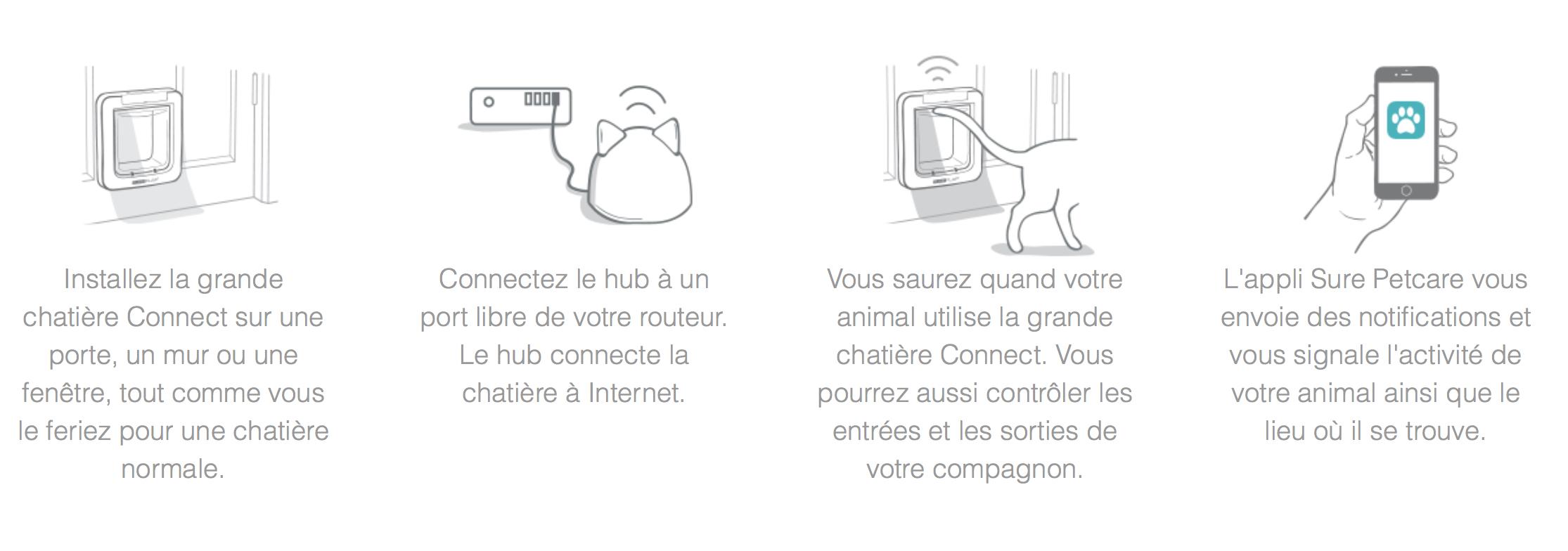 Grande Chatière Sureflap Connect